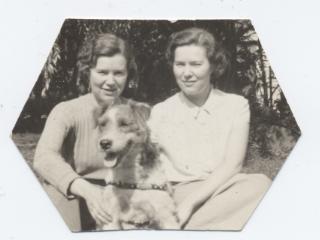 Twins with Dog