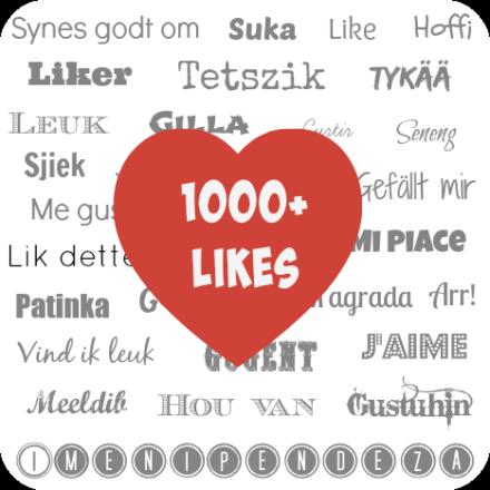 1000+likes